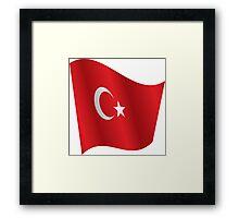 Waving Flag of Turkey Framed Print