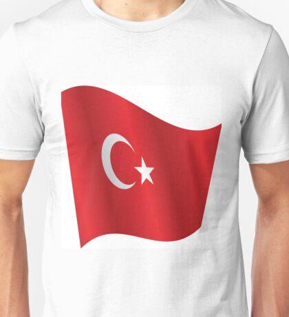 Waving Flag of Turkey Unisex T-Shirt