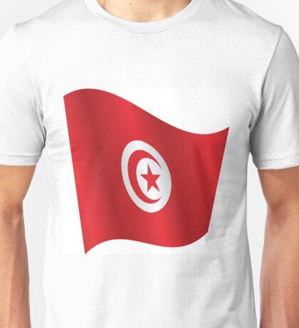 Waving Flag Of Tunisia Unisex T-Shirt