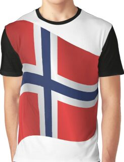 Waving Flag of Norway Graphic T-Shirt