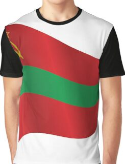 Waving Flag of Transnistria Graphic T-Shirt