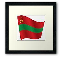 Waving Flag of Transnistria Framed Print