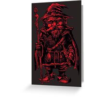 Red Wizard Greeting Card