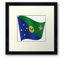 Waving Flag of Christmas Island Framed Print