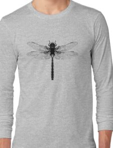 Black Dragonfly Long Sleeve T-Shirt