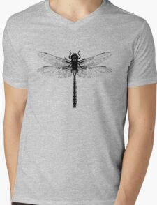 Black Dragonfly Mens V-Neck T-Shirt