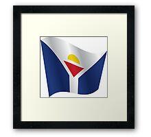 Waving Flag of Saint Martin Framed Print