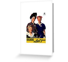 Soldiers Without Guns Greeting Card