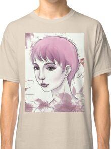 Nerdy Girl Pastell Vintage Postcard Classic T-Shirt