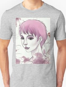 Nerdy Girl Pastell Vintage Postcard Unisex T-Shirt