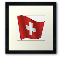 Waving Flag of Switzerland Framed Print