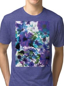 Bluebell Spring Floral Collage Tri-blend T-Shirt