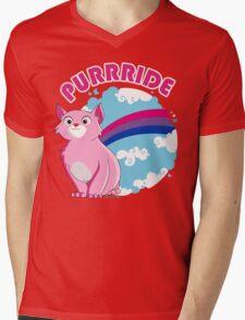 Bi Purrride Mens V-Neck T-Shirt