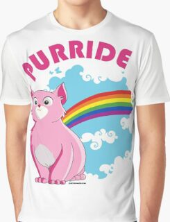 Gay Purrride Graphic T-Shirt