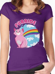 Gay Purrride Women's Fitted Scoop T-Shirt