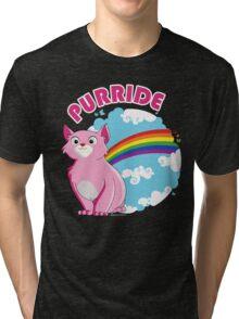 Gay Purrride Tri-blend T-Shirt