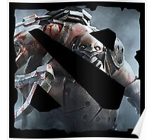 Dota 2 Logo With Pudge Poster