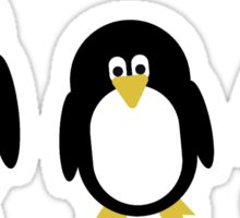 Cartoon Penguins Sticker