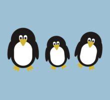 Cartoon Penguins Baby Tee