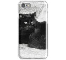 Pretty Black Cat iPhone Case/Skin