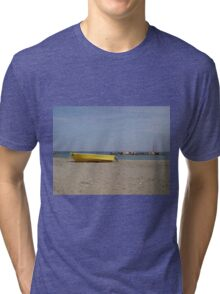 Boat on a beach Tri-blend T-Shirt