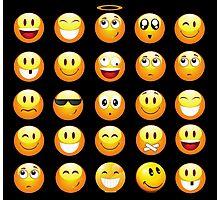 black emojis Photographic Print