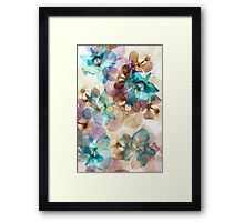 Glowing Floral Orchid Collage Framed Print