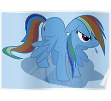 Wet Rainbow Dash Poster