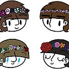 Beatles Flower Crowns by CharlieeJ
