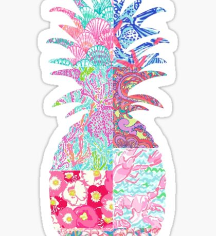 Lily Pulitzer patch pineapple Sticker