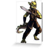 Kobold Warrior Greeting Card