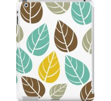 Stylized Colorful Pastel Tones Fall Leafs Pattern iPad Case/Skin