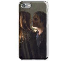 Delena Rain Kiss - Elena and Damon iPhone Case/Skin