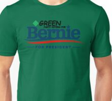 Green Party Voters for Bernie for President - On Green Unisex T-Shirt