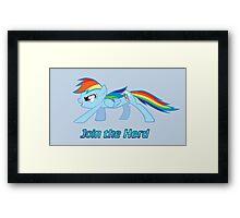 Rainbow Dash Join the Herd Framed Print