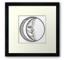 The Moon at Peace Framed Print