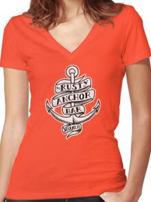 The Rusty Anchor Bar Women's Fitted V-Neck T-Shirt