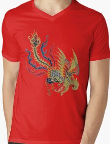 Chinese Rooster Asian Art Mens V-Neck T-Shirt