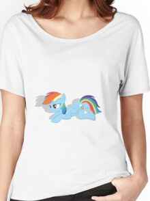 Rainbow Dash Laying Down Women's Relaxed Fit T-Shirt