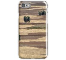 Fields after harvest iPhone Case/Skin