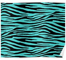 0426 Medium Turquoise Tiger Poster