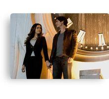 Elena and Damon - Delena Canvas Print