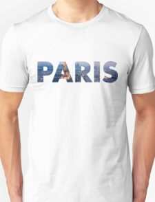 Text Paris with The Eiffel Tower T-Shirt