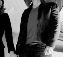 Elena and Damon in black and white - Delena Sticker