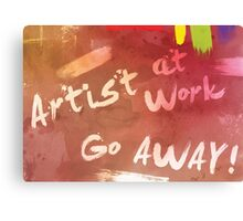 Artist at Work Welcome Sign Canvas Print