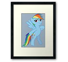 Rainbow Dash Proud Framed Print