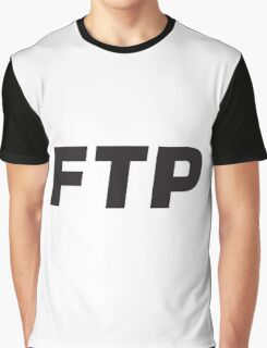FTP - FUCK THE POPULATION BW Graphic T-Shirt