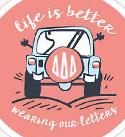 Life is Better TriDelt Sticker