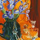Irises and glass by Freda Surgenor