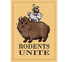 Rodents Unite! Photographic Print